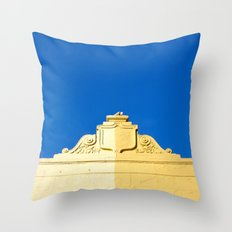 Blue Sky and 2 Yellows Throw Pillow