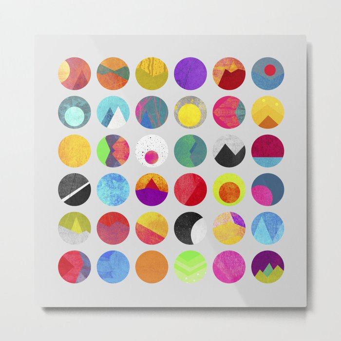 Dots - I Metal Print