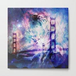 ultra violet golden gate bridge Metal Print