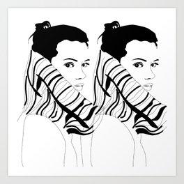 Turtleneck - I Art Print