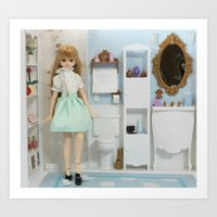 bathroom Art Prints featuring Bathroom by ♥  Little Enchanted World ♥