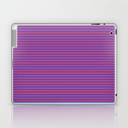 Even Horizontal Stripes, Blue and Red, XS Laptop & iPad Skin