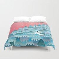 outdoor Duvet Covers featuring Tree Hugger by littleclyde