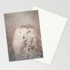 Snowy Owl in the snow Stationery Cards