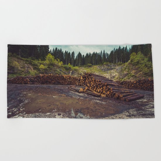 Logs Beach Towel