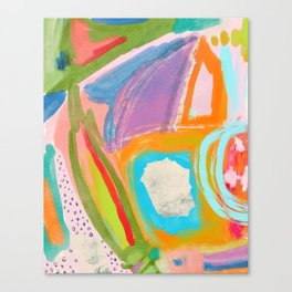 Shapes and Layers no.18 - Abstract Painting Tropical Canvas Print