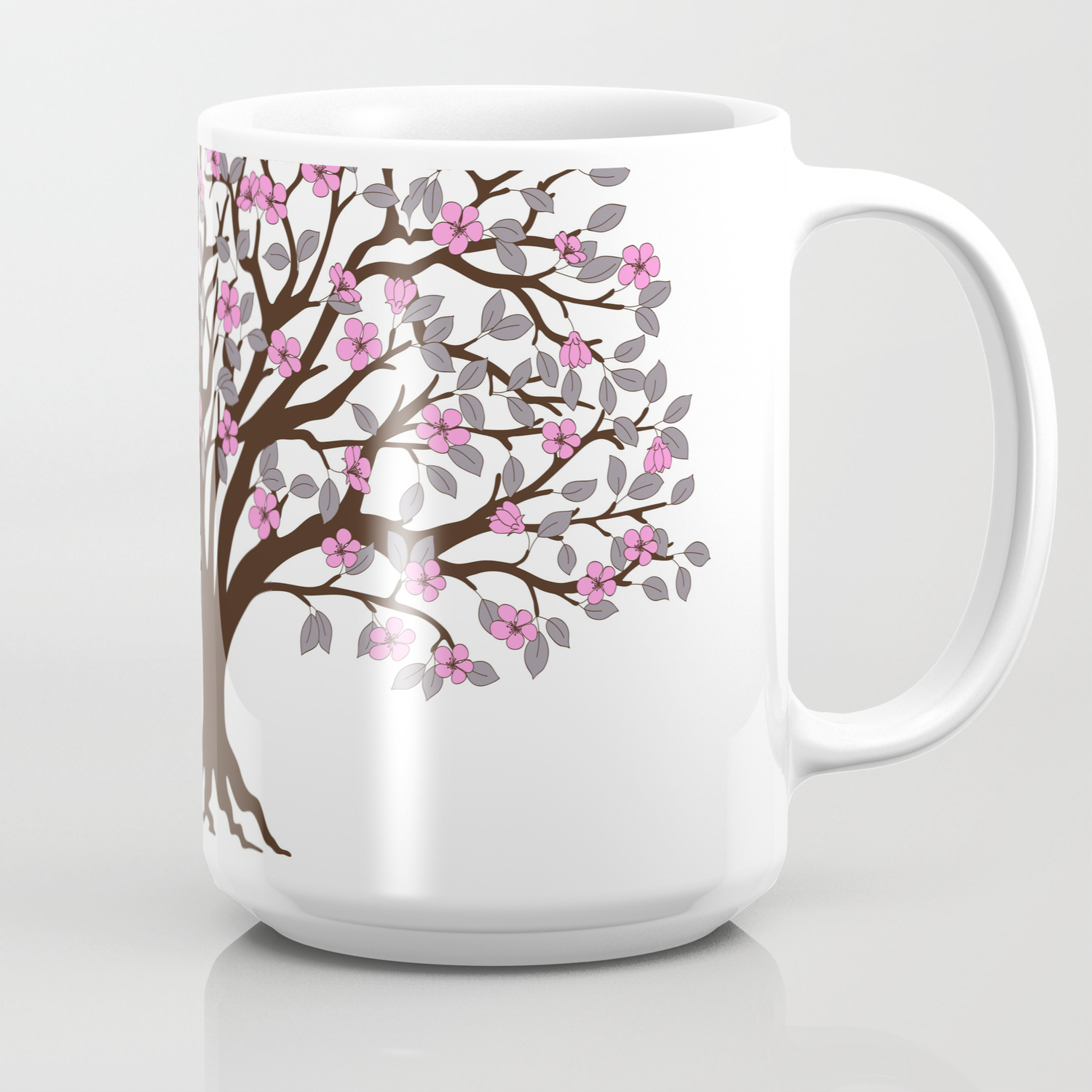 Apple Tree With Pink Blossom On The White Background Coffee Mug By Alinanovikova Society6