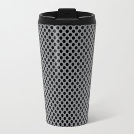 Sharkskin and Black Polka Dots Travel Mug