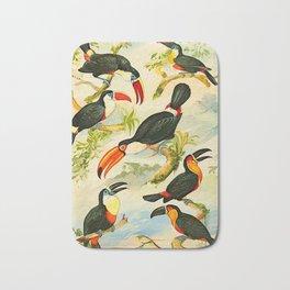 Album de aves amazonicas - Emil August Göldi - 1900 Tropical Colorful Amazon Birds Bath Mat