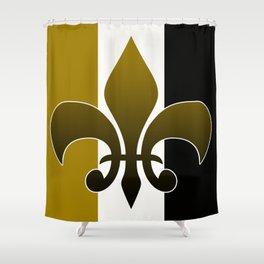 Black and gold fleur de lis Shower Curtain