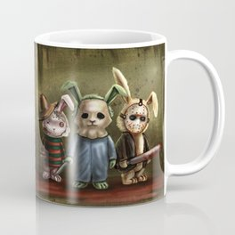 Horror Bunnies - Parody of Jason, Freddy and Michael Myers Coffee Mug