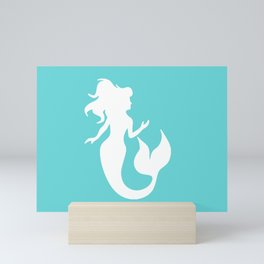 Mermaid Turquoise Mini Art Print