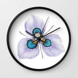 Flower - MORAEA VILLOSA By Magda Opoka Wall Clock