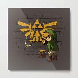 Link Banksy Metal Print
