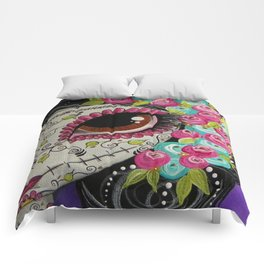 Day Of The Dead Girl Comforters