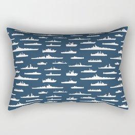 Battleship // Navy Blue Rectangular Pillow
