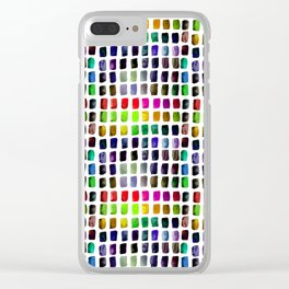 Brushstrokes 1a by Kathy Morton Stanion Clear iPhone Case