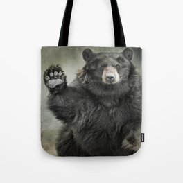 Black Bear Greeting Tote Bag