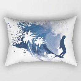 The Longboard Surfer Rectangular Pillow