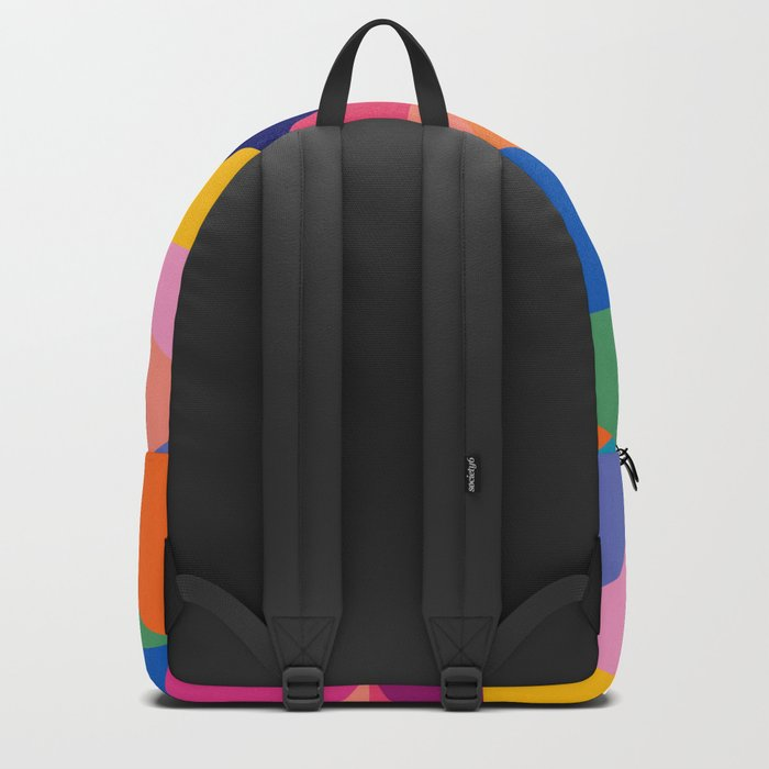 Geometric Color Block Backpack