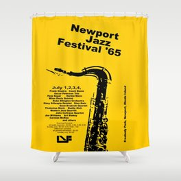 Vintage 1965 Newport, R.I Jazz Festival Advertisement Poster Shower Curtain