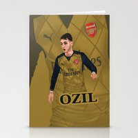 arsenal Stationery Cards featuring Mesut Özil by siddick49