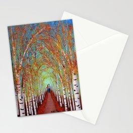Autumn Birch  Stationery Cards