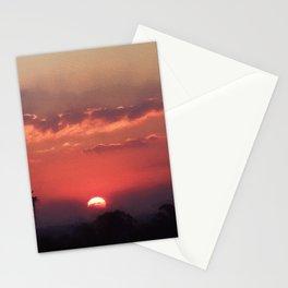 Sweet Pink Orange Sunset Stationery Cards
