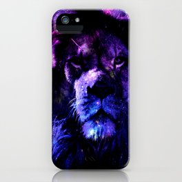 Lion leo purple iPhone Case