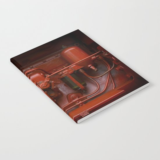 Red Tractor motor Notebook