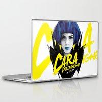 cara delevingne Laptop & iPad Skins featuring Cara Delevingne by Dik Low