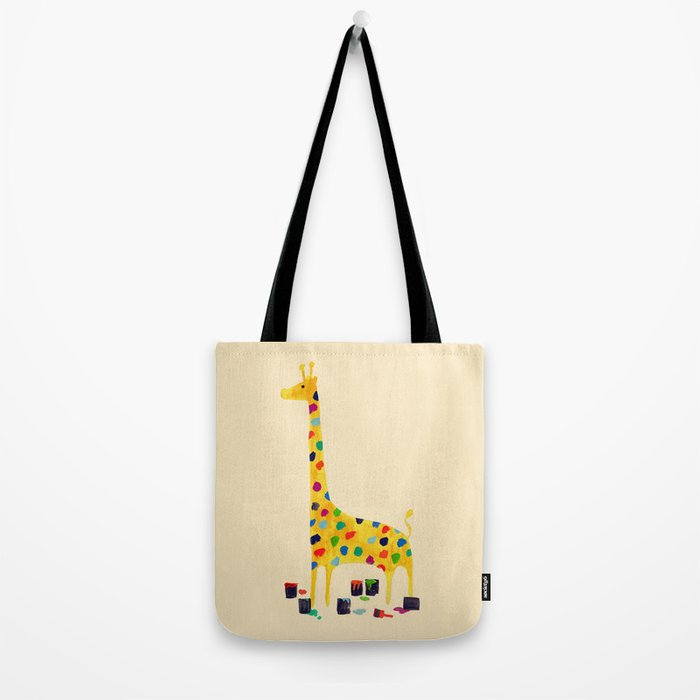 Paint by number giraffe Tote Bag