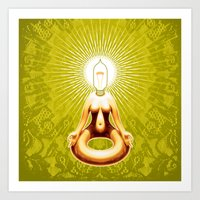 ohm Art Prints featuring OHM by Fulvio Bisca