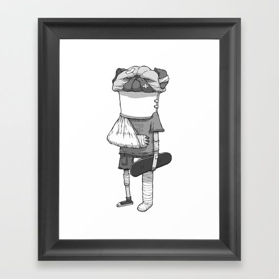 That pug. Framed Art Print