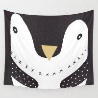 penguin Wall Tapestries featuring Penguin by tonadisseny