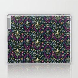 Purple and Gold Folk Milk Maid Pattern Laptop & iPad Skin