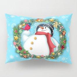snowman and pal Pillow Sham