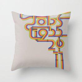 Steve Jobs. In Memoriam Throw Pillow