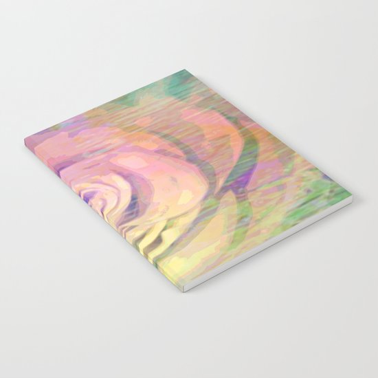 Painterly Pastel Rose Abstract Notebook
