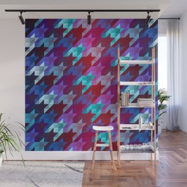 gradient origami houndstooth Wall Mural