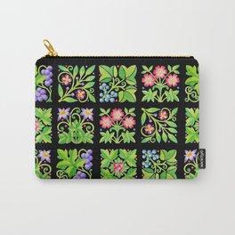 Tudor Flower Parterre Carry-All Pouch