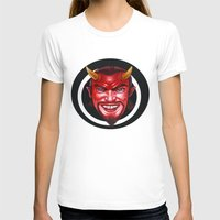 devil T-shirts featuring Devil by Michael Forbes