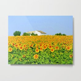 Sunflowers of Andalucia Metal Print