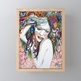 Thinking About Thinking Framed Mini Art Print