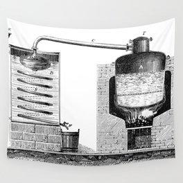 Alambic à double fond pour la distillation des marcs de raisin Wall Tapestry
