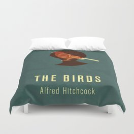 THE BIRDS - Hitchcok Poster Duvet Cover