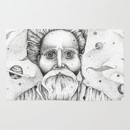 Aim for the moon, land in the stars Rug