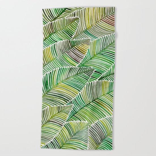 Tropical Green Beach Towel