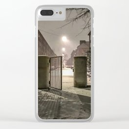 Winter is apparently already here Clear iPhone Case