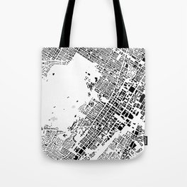 Montreal building city map Tote Bag